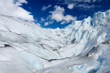 top of Perito Moreno in Argentina Stockfoto