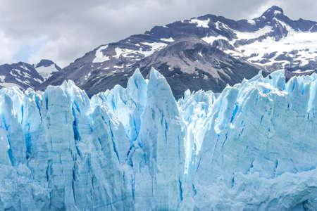 Front view of Glacier Perito Moreno in Argentina Stockfoto