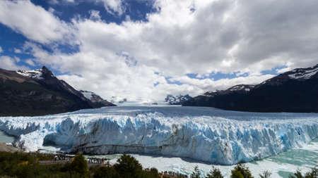 top view of Perito Moreno Glacier in Argentina