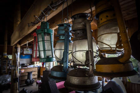 collection of old lamps