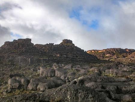 Rock Formations at the top of Mount Roraima, La Gran Sabana, Venezuela Stok Fotoğraf