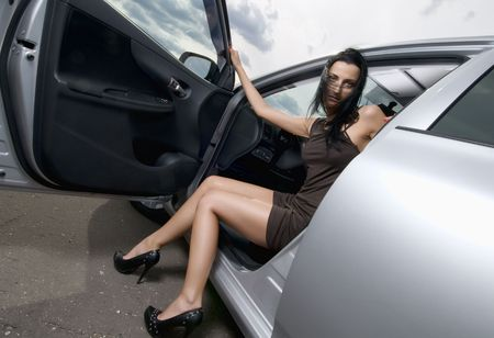 Young beautiful woman in the car Stock Photo - 7260846