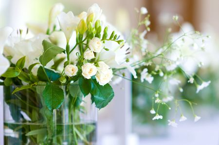Beautiful bouquet of white roses Stock Photo - 7444239