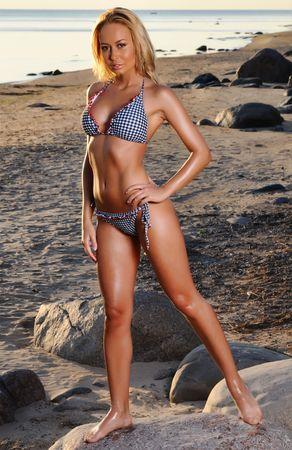 Beautiful girl on the beach Stock Photo - 7487151