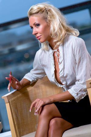 Adorable business woman Stock Photo - 7686844