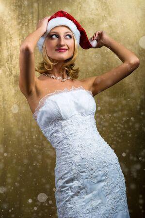 Beautiful Christmas girl  Stock Photo - 8509373