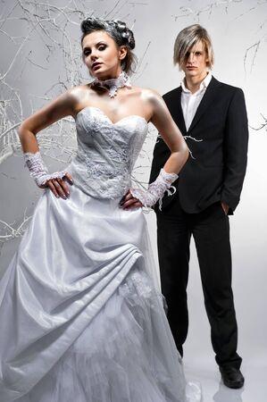 Beautiful bride and groom photo