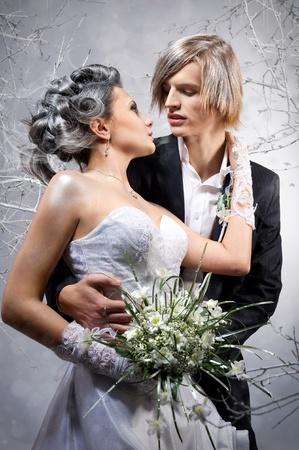 Beautiful couple in love photo