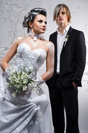 Beautiful bride and groom photo