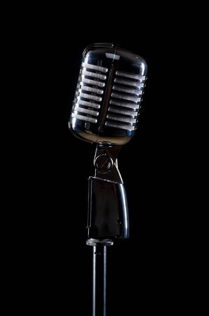 Professional vintage microphone  photo