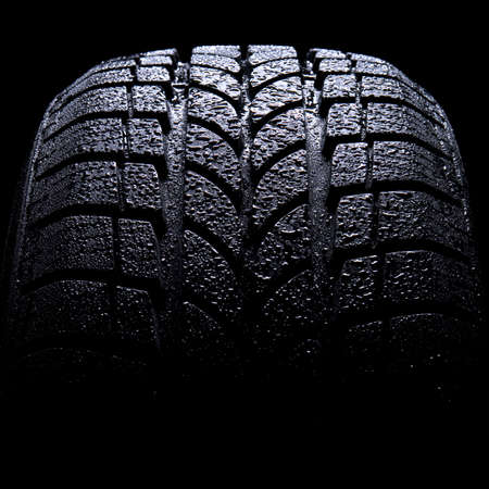 Car tire isolated on black background Stock Photo - 9653130