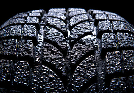 Car tire isolated on black background Stock Photo - 9653156