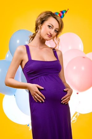 Lovely pregnant young woman  photo
