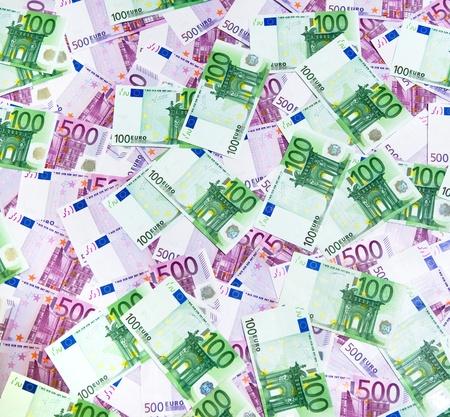 500 and 100 Euro Banknotes photo