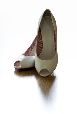 Female white shoes photo