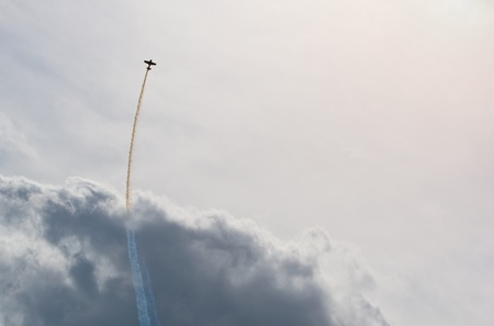 stunts: Plane in the sky  Stock Photo