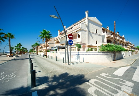 View of Costa Blanca street,  Province of Alicante in Spain photo