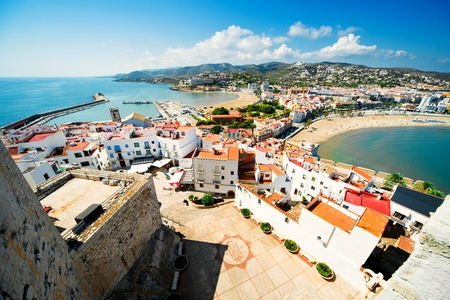 beaches of spain: View of the Peniscola town Valencia, Spain Stock Photo