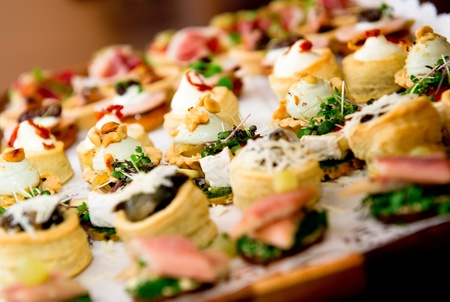 catering food: Delicious appetizer close-up Stock Photo