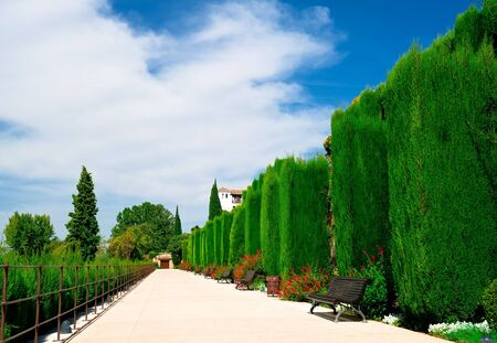 Granada, Spain, September 28, 2011: Alhambra garden in Granada, Spain Stock Photo - 10958261