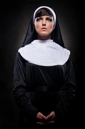 Attractive young nun photo