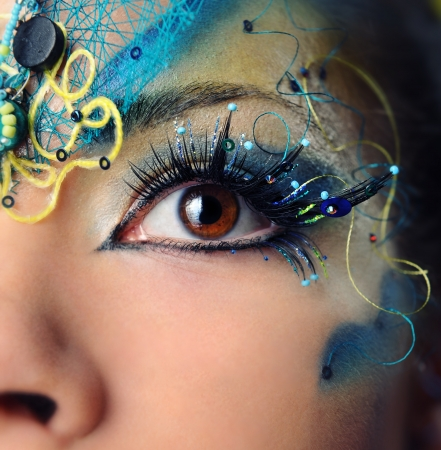 Beautiful eye make-up close-up Stock Photo - 11594752