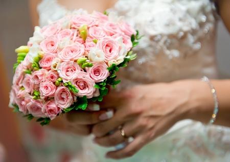 mixed flower bouquet: Beautiful bridal bouquet close-up