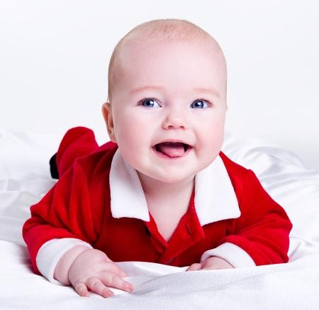 Adorable little santa baby Stock Photo - 11717499