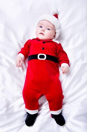 Adorable little santa baby Stock Photo - 11717503