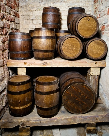 Old wine cellar with tuns  photo