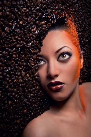 modelos negras: Hermosa mujer