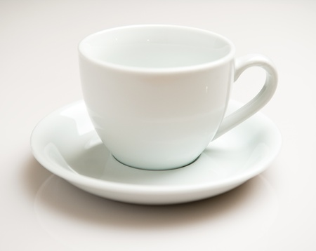 Coffee cup over white background photo
