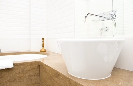 wash basin: Modern bathroom interior