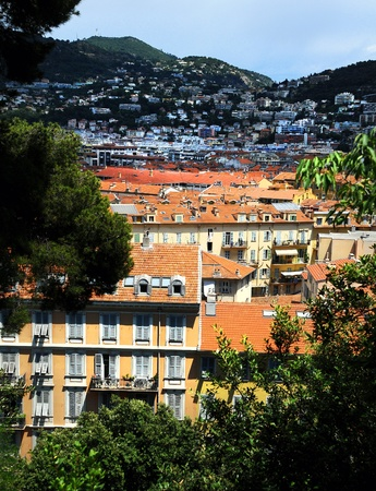 Panoramic view of Nice city, France photo