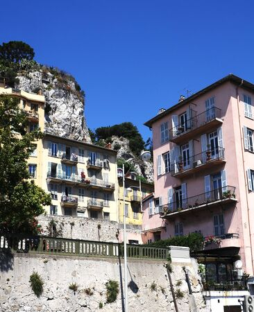 Typical houses in Nice, France photo