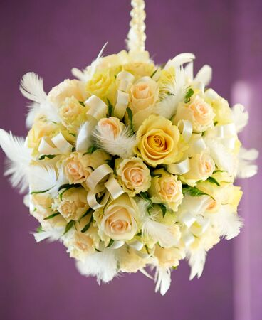 mixed flower bouquet: Beautiful bridal bouquet Stock Photo