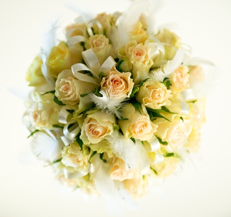 bunch up: Beautiful bridal bouquet Stock Photo