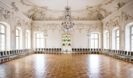 chandeliers: Great Hall Ballroom in Rundale Palace, Latvia