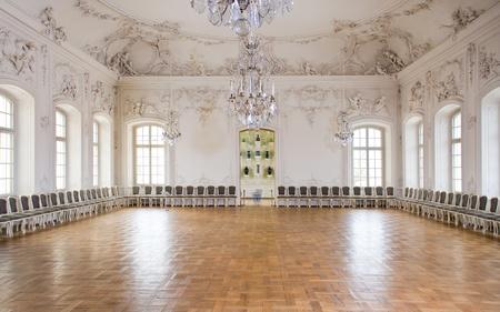 rundale: Sala grande sala da ballo in Rundale Palace, la Lettonia