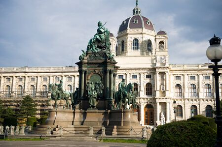 Maria-Theresa Monument and Museum of Art History  The Kunsthistorisches Museum ,  Vienna Stock Photo - 13266777