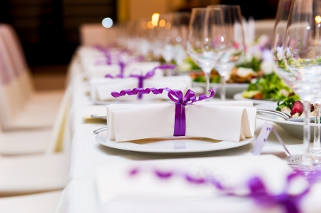 結婚式のテーブルの装飾