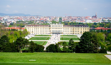 Schonbrunn Palace. One of the most important cultural monuments in the country,Vienna
