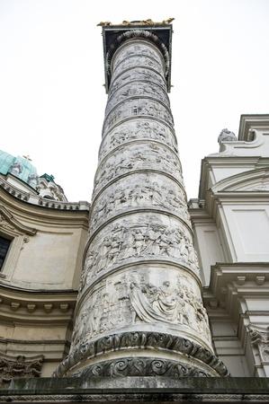 Column of St. Charless Church (Karlskirche), Vienna  photo