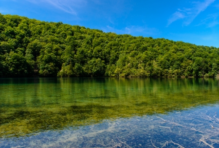 Plitvice Lakes National Park in Croatia, beautiful landscape photo