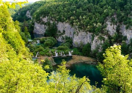 Beautiful landscape  Plitvice Lakes National Park in Croatia Stock Photo - 13733669