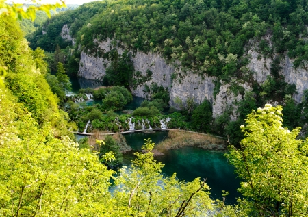 Beautiful landscape  Plitvice Lakes National Park in Croatia Stock Photo - 13733669