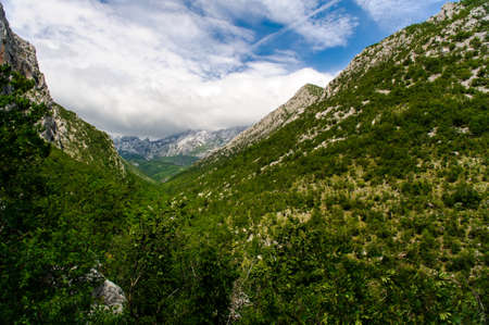 paklenica: Scenic mountain landscape. Paklenica National Park in Croatia