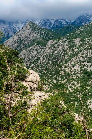 paklenica: Scenic mountain landscape. Paklenica National Park in Croatia