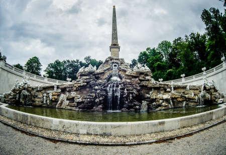 schonbrunn palace: Old fountain in park of Schonbrunn Palace in Vienna  Austria