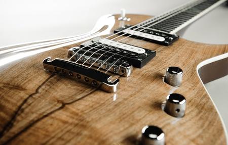 accompagnement: Guitare �lectrique en gros plan Banque d'images
